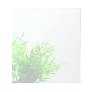 Green Plant Nature Growing Gardening Notepad