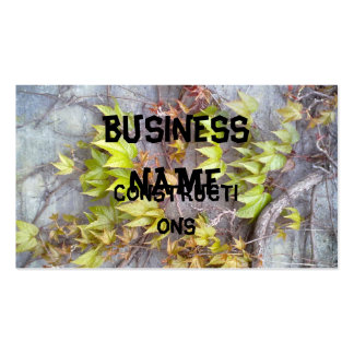 Green plant on a stone wall business card