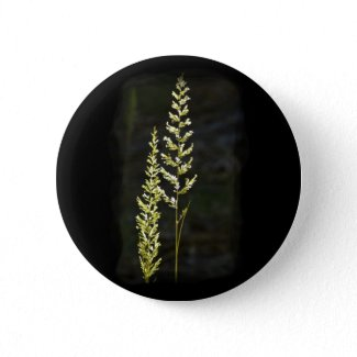 Green Plant Pinback Buttons