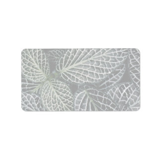 Green plant texture personalized address label