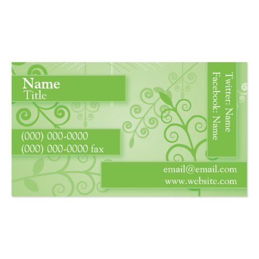 Green Plantlife Business Card Template