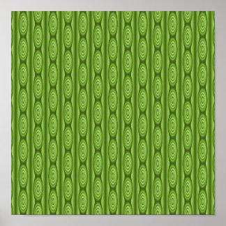 Green Plantlike Pattern. Posters