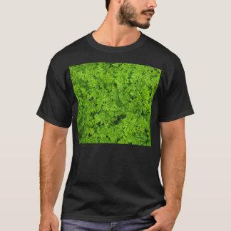 Green Plants Fern Foliage Texture Background T-Shirt