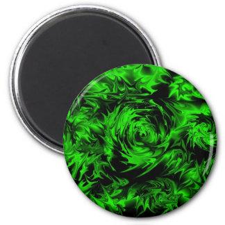 Green Plasma 2 Inch Round Magnet