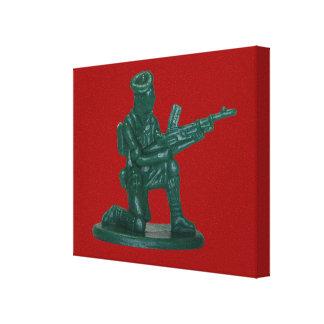 Green Plastic Army Man Canvas Print