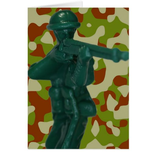 Green Plastic Army Man Cards