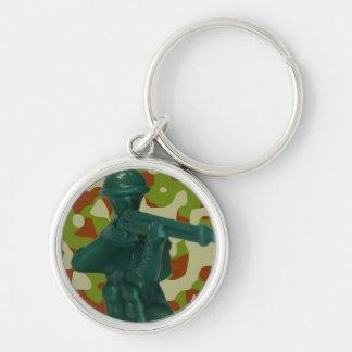 Green Plastic Army Man Keychains