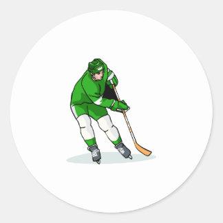 Green Player Classic Round Sticker