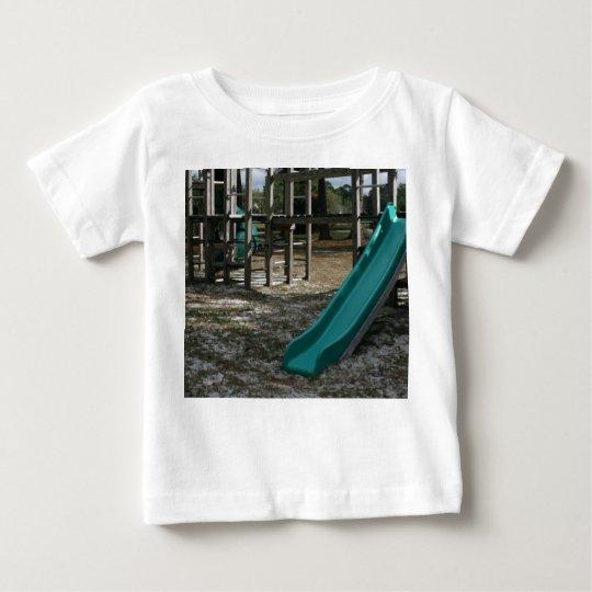 Green Playground slide, wood jungle gym Baby T-Shirt