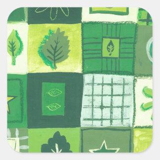 Green & Pleasant Square Sticker