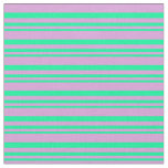 [ Thumbnail: Green & Plum Colored Striped/Lined Pattern Fabric ]