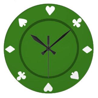 Green Poker Chip Clock