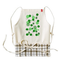 Green Poker Dot Pattern Zazzle HEART Apron