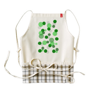 Green Poker Dot Pattern Zazzle HEART Apron