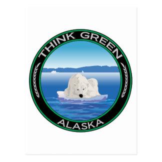Green Polar Alaska Postcard