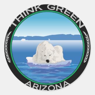Green Polar Arizona Classic Round Sticker
