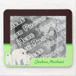 Green Polar Bears Mousepad
