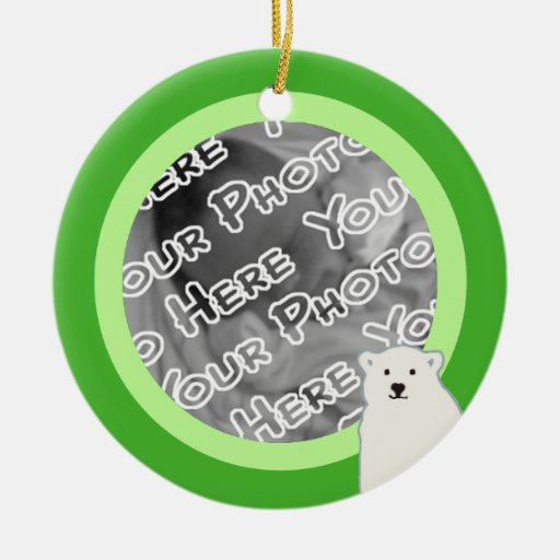 Green Polar Bears Ornament