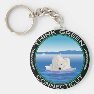 Green Polar Connecticut Keychain