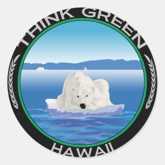 Green Polar Hawaii Classic Round Sticker
