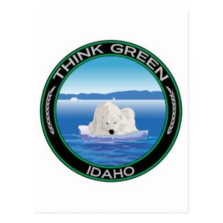 Green Polar Idaho Postcard