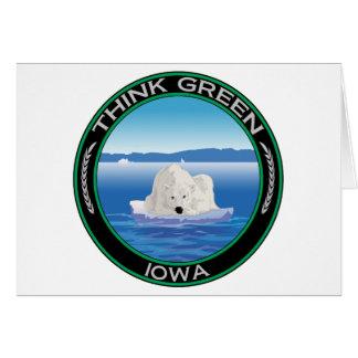 Green Polar Iowa Card