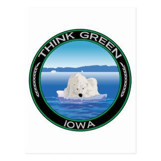 Green Polar Iowa Postcard
