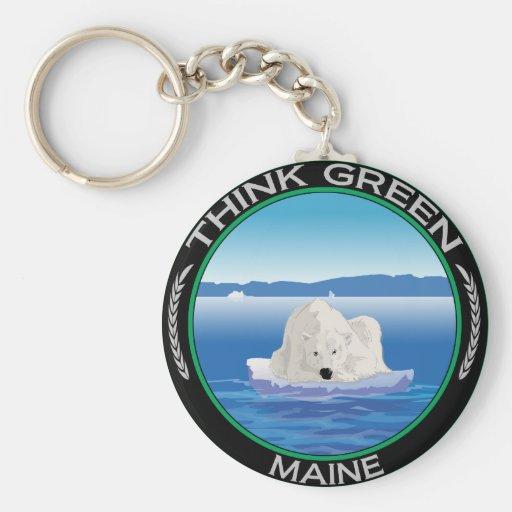 Green Polar Maine Keychains