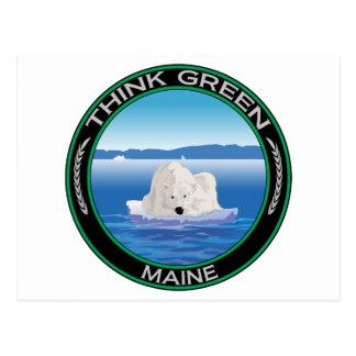 Green Polar Maine Postcard
