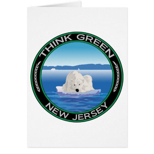 Green Polar New Jersey Greeting Card