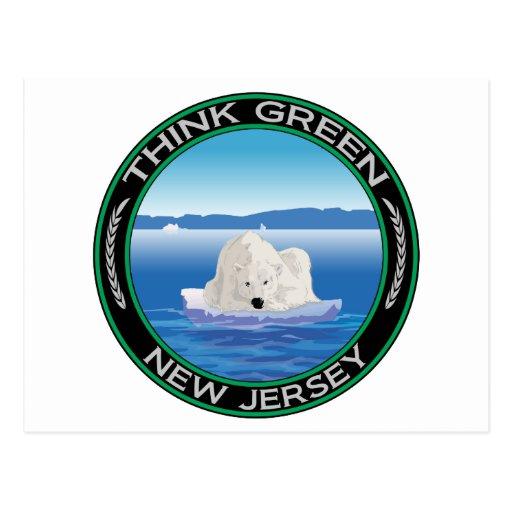Green Polar New Jersey Post Cards