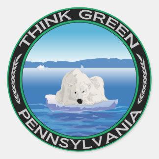 Green Polar Pennsylvania Classic Round Sticker