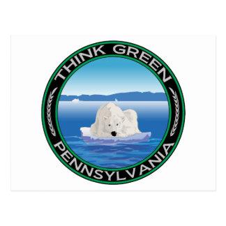 Green Polar Pennsylvania Postcard