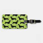 Green Polka Dachshunds Tags For Luggage