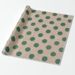 "Green Polka Dot Burlap Style Gift Wrapping paper<br><div class=""desc"">The perfect decorative wrapping paper to wrap up your holiday gifts!</div>"