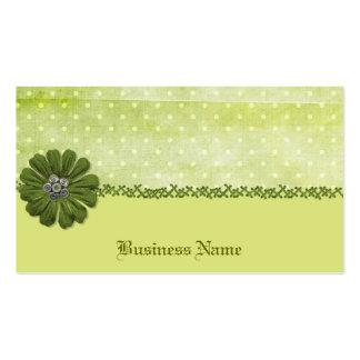 Green Polka Dot Business Card