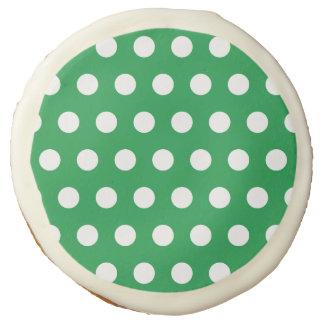 Green Polka Dot Cookies