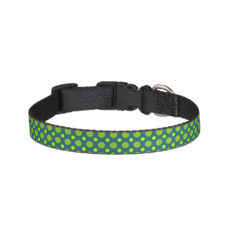 Green Polka Dot Dog Collar