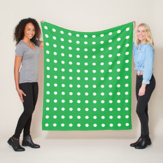 Green Polka Dot Fleece Blanket