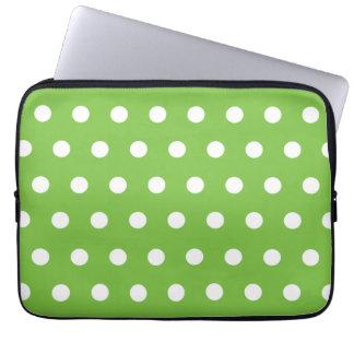Green Polka Dot Laptop Sleeve
