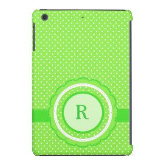 Green Polka Dot Monogram iPad Mini Case