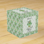 Green Polka Dot Owl Baby Shower Theme Favor Box
