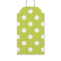 Green Polka Dot Pattern Gift Tags