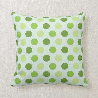 Green Polka Dot Pattern Pillow