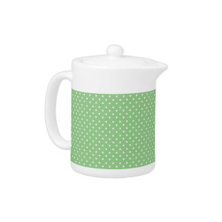 Green Polka Dot Pattern Teapot