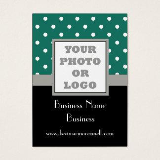 Green polka dot  photo logo business card