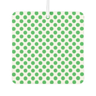 Green Polka Dots Car Air Freshener