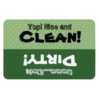 Green Polka Dots Clean Dirty Dishwasher W1419 Rectangular Photo Magnet