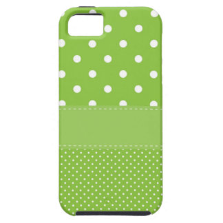 Green Polka Dots Delicate Bridal or Baby Shower iPhone SE/5/5s Case