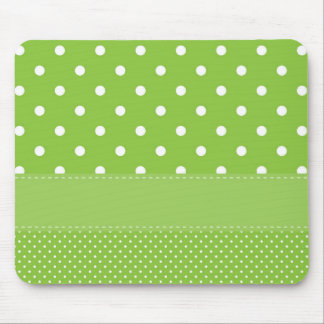 Green Polka Dots Delicate Bridal or Baby Shower Mouse Pad